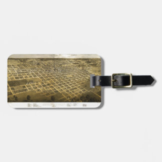 Aerial View of Springfield, Illinois (1867) Luggage Tag