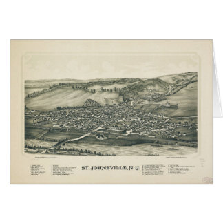 Aerial View of St. Johnsville, New York (1890) Card