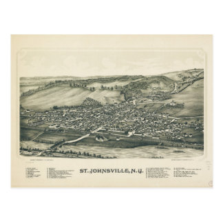 Aerial View of St. Johnsville, New York (1890) Postcard