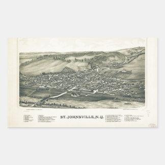 Aerial View of St. Johnsville, New York (1890) Sticker