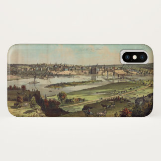 Aerial View of St. Paul, Minnesota (1874) iPhone X Case