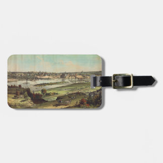 Aerial View of St. Paul, Minnesota (1874) Luggage Tag