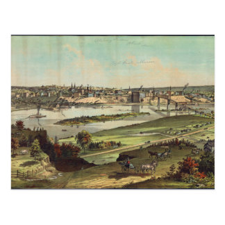 Aerial View of St. Paul, Minnesota (1874) Postcard
