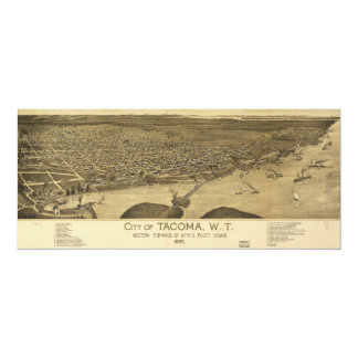Aerial View of Tacoma, Washinton (1885) Card