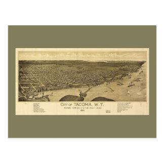 Aerial View of Tacoma, Washinton (1885) Postcard
