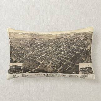 Aerial View of Tallahassee, Florida (1885) Lumbar Pillow