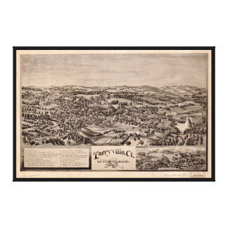 Aerial View of Terryville, Connecticut (1894) Canvas Print