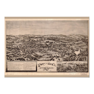 Aerial View of Terryville, Connecticut (1894) Card
