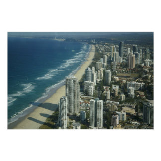 Aerial View of The Beach Poster