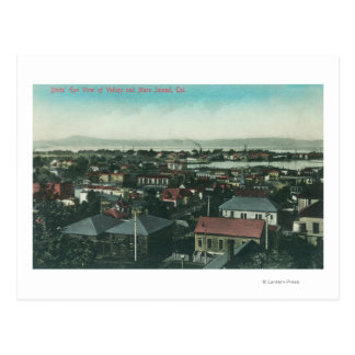 Aerial View of the City and Mare Island Postcard
