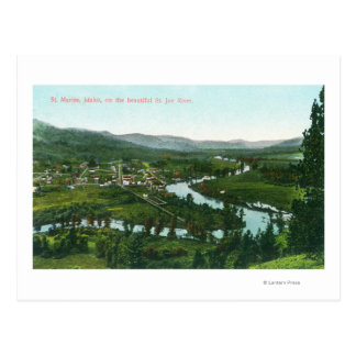 Aerial View of the City on the St. Joe River Postcard