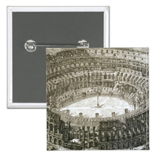 Aerial view of the Colosseum in Rome from 'Views o 2 Inch Square Button