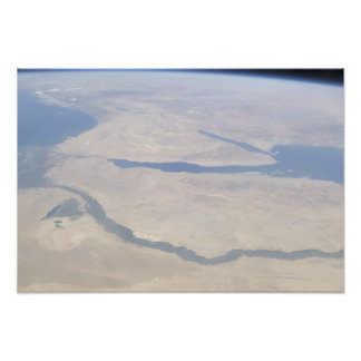 Aerial view of the Egypt and the Sinai Peninsul Photograph