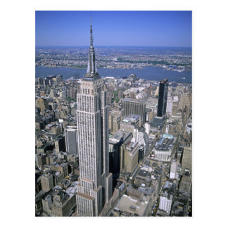 Aerial view of the Empire State Building and Postcard