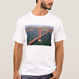 Aerial view of the Golden Gate Bridge in the 2 T-Shirt
