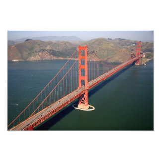 Aerial view of the Golden Gate Bridge in the Art Photo