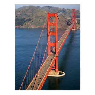 Aerial view of the Golden Gate Bridge in the Postcard