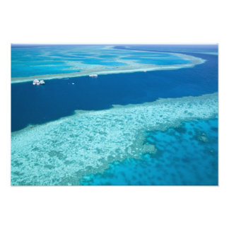 Aerial view of The Great Barrier Reef by the Photo Print