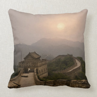 Aerial view of the Great Wall of China Throw Pillow