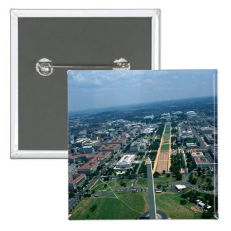 Aerial view of the National Mall 2 Inch Square Button
