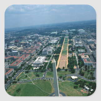 Aerial view of the National Mall Square Sticker