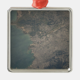Aerial view of the Port-au-Prince area of Haiti Metal Ornament