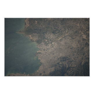 Aerial view of the Port-au-Prince area of Haiti Poster