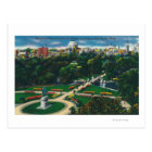 Aerial View of the Public Gardens, Beacon Hill Postcard