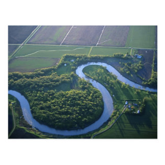 Aerial view of the Red River of the North Postcard