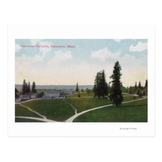 Aerial View of the Vancouver Barracks Postcard