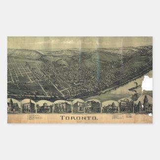 Aerial View of Toronto, Ohio (1899) Sticker
