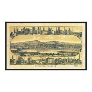 Aerial View of Towanda, Pennsylvania (1880) Canvas Print