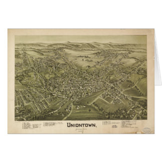 Aerial View of Uniontown, Pennsylvania (1897) Card