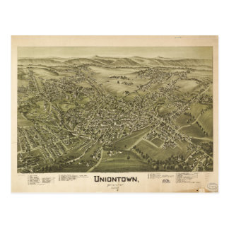 Aerial View of Uniontown, Pennsylvania (1897) Postcard