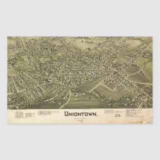 Aerial View of Uniontown, Pennsylvania (1897) Sticker