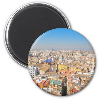 Aerial view of Valencia, Spain 2 Inch Round Magnet
