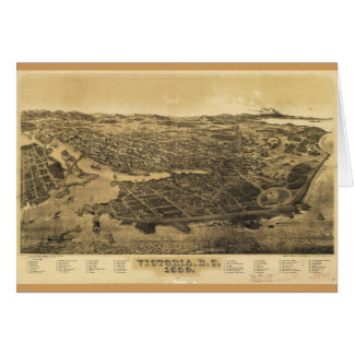 Aerial View of Victoria, B.C., Canada (1889) Card