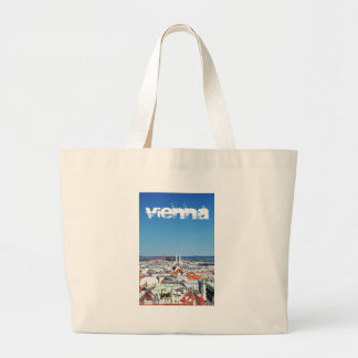 Aerial view of Vienna, Austria Large Tote Bag