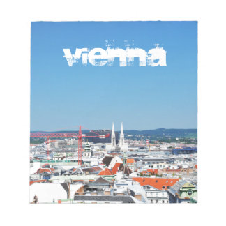 Aerial view of Vienna, Austria Notepad