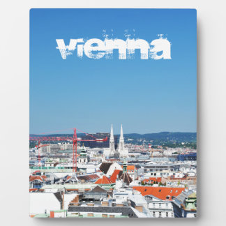 Aerial view of Vienna, Austria Plaque