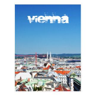 Aerial view of Vienna, Austria Postcard