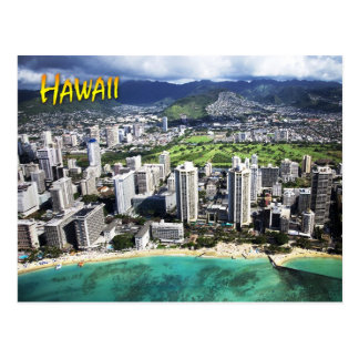 Aerial view of Waikiki Beach, Oahu, Hawaii Postcard