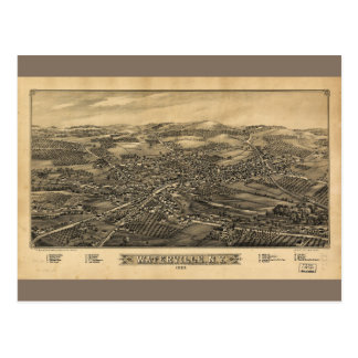 Aerial View of Waterville, New York (1885) Postcard