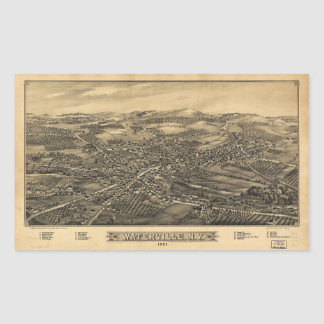 Aerial View of Waterville, New York (1885) Sticker