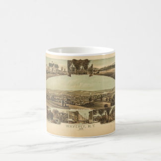 Aerial View of Waverly, New York by J Moray (1881) Coffee Mug