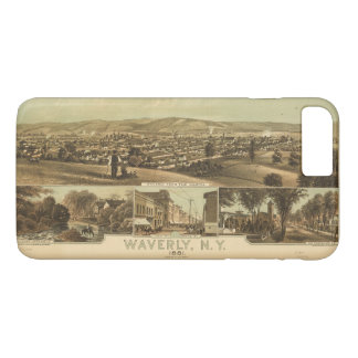 Aerial View of Waverly, New York by J Moray (1881) iPhone 7 Plus Case