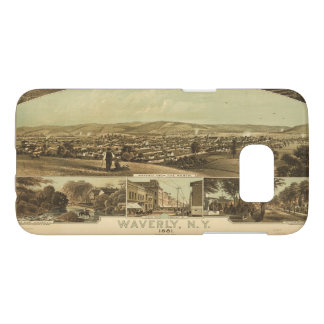 Aerial View of Waverly, New York by J Moray (1881) Samsung Galaxy S7 Case