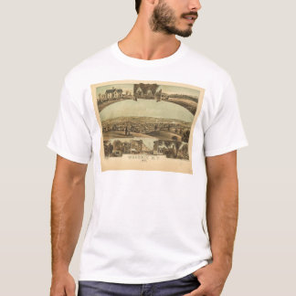 Aerial View of Waverly, New York by J Moray (1881) T-Shirt