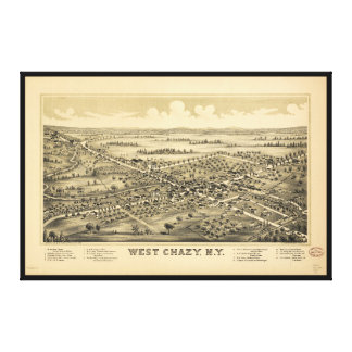 Aerial View of West Chazy, New York (1899) Canvas Print