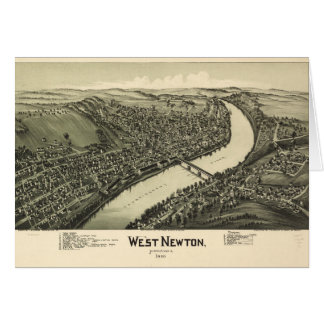Aerial View of West Newton, Pennsylvania (1900) Card